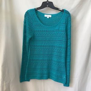 Olive and Oak Open Knit Sweater size Large